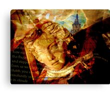 Statue butterfly collage Canvas Print