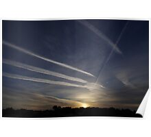 Sunrise and chemtrails Poster