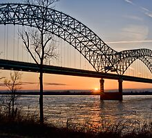 Memphis Bridge at Sunset by Harlan Stillions