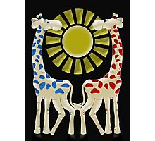Cheeky Giraffes  Photographic Print