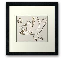 Coffee bird Framed Print