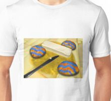 Melted Margerine and Three Blue Stiped Biscuits Unisex T-Shirt