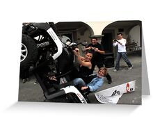 quad bikers Greeting Card