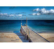 Lone Fisherman - Normanville Jetty, Fleurieu Peninsula, SA Photographic Print