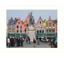 Markt Square, Bruges, Belgium Art Print