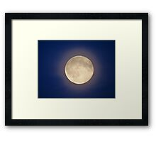 Full Moon with Halo Framed Print