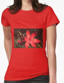 Red River Lily (Hesperantha coccinea) Womens Fitted T-Shirt