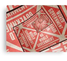 No World Government Canvas Print