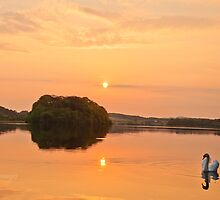 Gartmorn Dam sunrise by Alan Gray