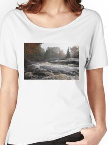 Whiskey River - Foggy Fall Waterscape Women's Relaxed Fit T-Shirt