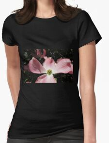 "Pink ""Dogwood"" or ""Cornus"" Womens Fitted T-Shirt"