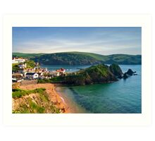 Hope Cove, Devon, England Art Print