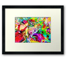 Color Burn Framed Print