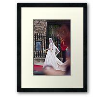 Kate Middleton Arrives Framed Print