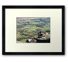 A Seat above the Valley Framed Print