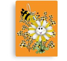 Little Summer Bee  Canvas Print