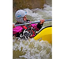Whitewater kayaking . Playboating .Dunajec River. Zabrzeż . Poland. by Brown Sugar . Photographic Print