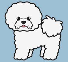 Bichon Frise Cartoon Dog Illustration by destei