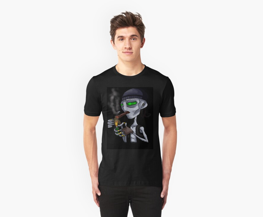funny Alien Gangster t-shirt by Alexander589