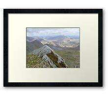 Close Up Rock, Far Away Mountain Framed Print
