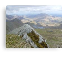 Close Up Rock, Far Away Mountain Canvas Print
