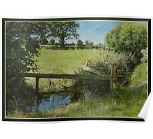 Country scene. Poster