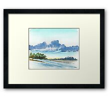 AFTER THE RAIN - AQUAREL Framed Print
