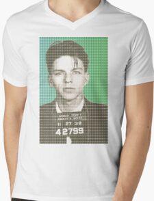 Sinatra Mug Shot Mens V-Neck T-Shirt