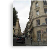 Walking Along the Rue - Paris Metal Print