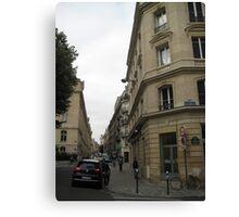 Walking Along the Rue - Paris Canvas Print