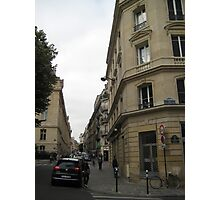 Walking Along the Rue - Paris Photographic Print