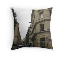 Walking Along the Rue - Paris Throw Pillow