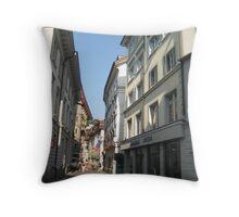 In-Town Shopping - Luzern, CH Throw Pillow