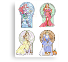 Steampunk Ladies of Disney Canvas Print
