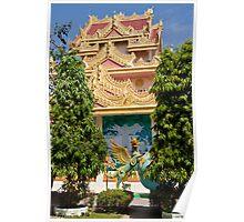 Burmese Temple - Penang Poster