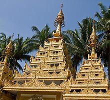 Burmese Temple - Penang by Colin  Ewington