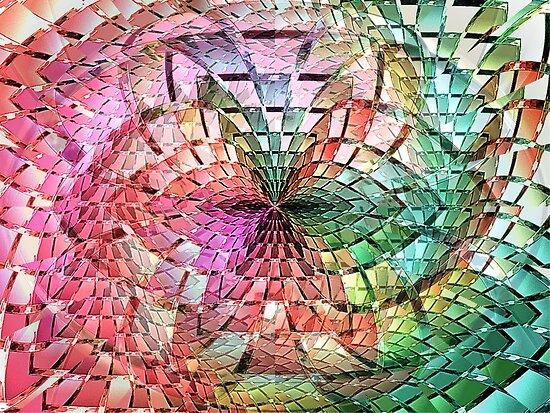 Portals Crystal Punch Bowl  (UF0275) by barrowda