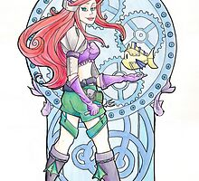 Steampunk Ariel Nouveau by Karen  Hallion