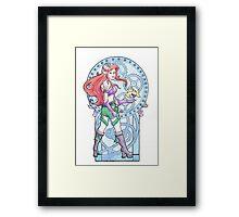 Steampunk Ariel Nouveau Framed Print