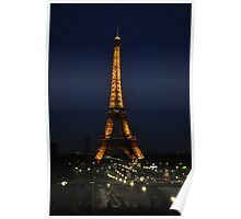 The Eiffel at Night Poster