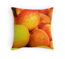Peach Pile Throw Pillow