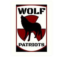 Black Wolf Patriots Art Print