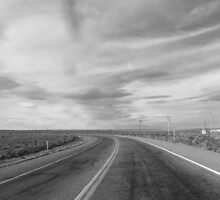 winding desert road by kurtgregory910