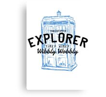 The Doctor - Time and Space Explorer Canvas Print