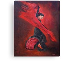 Flamenco in Red and Black Canvas Print