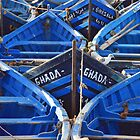 Blue Boats by mcelroyimages