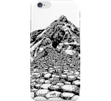 The Giants Causeway, Ireland. Ink Illustration iPhone Case/Skin