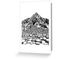 The Giants Causeway, Ireland. Ink Illustration Greeting Card