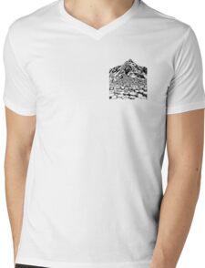 The Giants Causeway, Ireland. Ink Illustration Mens V-Neck T-Shirt