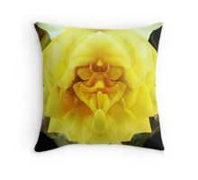 A Face in the Flower Throw Pillow